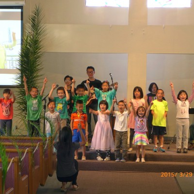 Chinese Community Church of South Bay - Children performing on Palm Sunday 2015